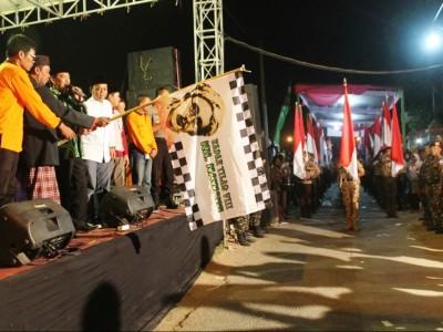 Ribuan Warga Sidoarjo Ikuti Napak Tilas Wafatnya KH Nawawi