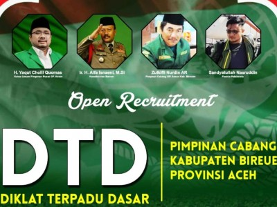 Tingkatkan Kualitas Kader, Ansor Bireuen Aceh Gelar Diklat