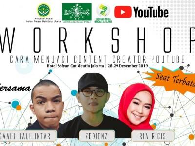 Hadirkan Halilintar, Zedienz, dan Ricis, IPNU Gelar Pelatihan Kreator Konten Youtube