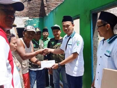 Rumah Kader Ansor Habis Dilalap Api, LAZISNU Sidoarjo Kirim Bantuan