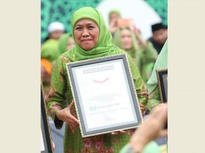Kaleidoskop 2019: Muslimat NU Torehkan Tiga Rekor Dunia