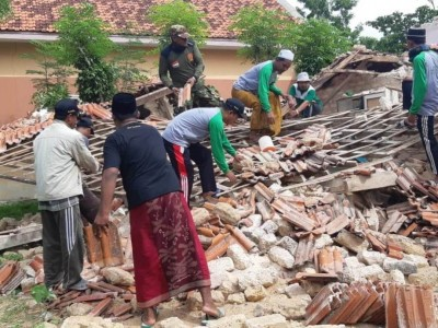 GP Ansor Giligenting Sigap Bantu Korban Bencana