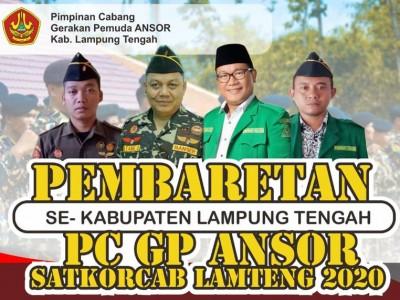Dukung Muktamar NU, Banser Lampung Tengah Gelar Pembaretan