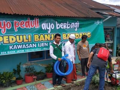 Kader Penggerak NU Kirim Mesin Sedot Air untuk Banjir Bondowoso
