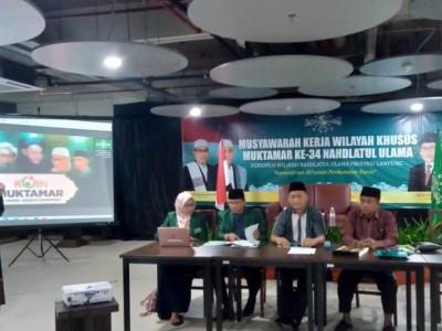 Mukerwilsus NU Lampung Konsolidasi Penggalangan Koin Muktamar