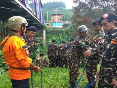 Banser Bojong Gelar Latihan Mitigasi Bencana