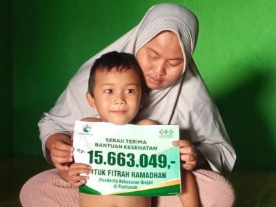 LAZISNU Pontianak Bantu Bocah Penderita Bocor Ginjal