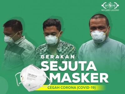 Cegah Virus Corona, LAZISNU Galang Gerakan Sejuta Masker