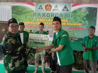 Tingkatkan Kemandirian, GP Ansor Kabupaten Sukabumi Luncurkan Gerakan Wakaf