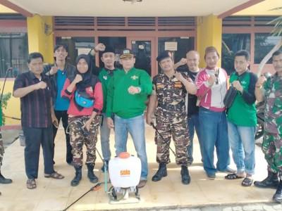Cegah Covid-19, NU Bandar Lampung Semprotkan Disinfektan Ke Pesantren