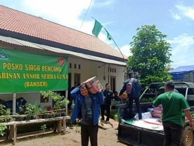 Posko Siaga Bencana Ansor di Ponorogo Terus Terima Bantuan Sembako