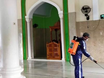 Banser Kabupaten Sorong Pastikan Rumah Ibadah Bebas Covid-19