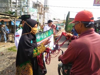 NU Lampung Selatan Bagi 1000 Masker di Gerbang Pulau Sumatera