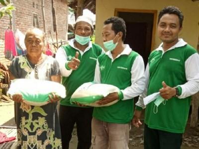 7 Ton Beras Dibagikan UPZISNU di Jombang saat Pandemi Corona