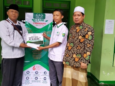 Cegah Covid-19, Kepala MA Swasta di Jombang Donasikan 10 Juta Lebih lewat LAZISNU