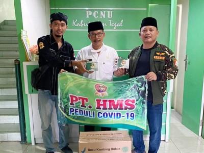 Ansor Tegal Terima Bantuan 300 Dus Susu untuk Satgas Covid-19