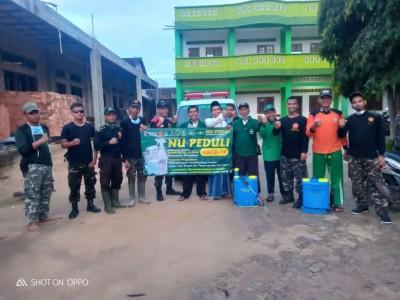 Maraton, NU Peduli Covid-19 Pringsewu Semprotkan Disinfektan di Ratusan Lokasi