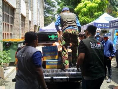 Kerja Sama NU Peduli dan Keuskupan Agung Jakarta Bantu Warga Terdampak Covid-19