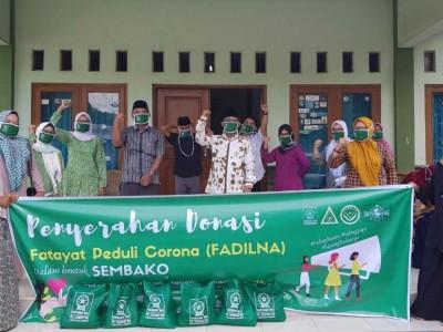 Fatayat NU Cirebon Salurkan Ratusan Sembako untuk Warga