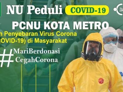 Satgas NU Peduli NU Kota Metro Gandeng MWC dan Ranting NU Cegah Covid-19