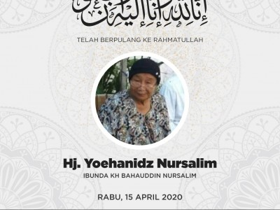 Innalillahi, Ibunda Gus Baha Nyai Hj Yuchanidz Wafat