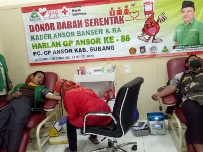 Stok Darah Menipis, GP Ansor Subang Inisiasi Donor Darah