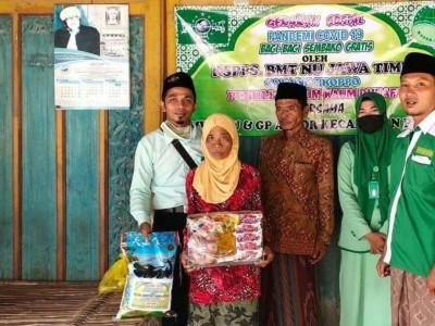 BMTNU Proppo Salurkan Bantuan untuk Warga Terdampak Covid-19