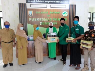 Fatayat NU dan GP Ansor Lasem Ajak Masyarakat Dukung Tenaga Medis