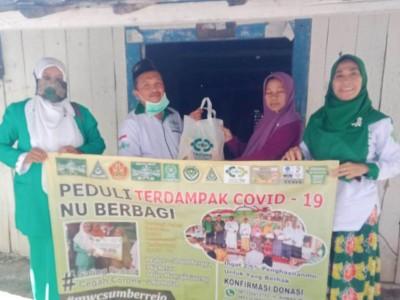 LAZISNU Bojonegoro Bagikan Ratusan Paket Sembako ke Kiai