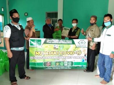 LAZISNU Purbalingga Bagikan Ribuan Paket Sembako kepada Dhuafa