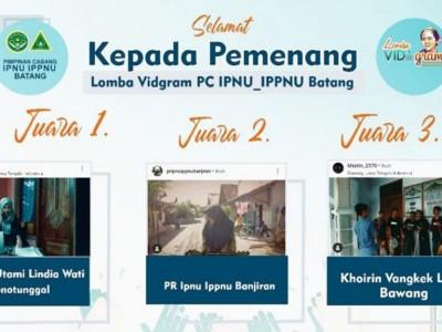 Peringati Hari Kartini, IPNU-IPPNU Batang Umumkan Pemenang Lomba Vidgram