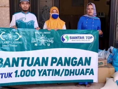 Giliran Puluhan Panti Asuhan Terima Paket Sembako dari LAZISNU Jatim