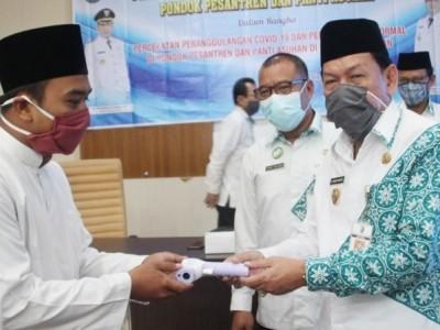 New Normal Pesantren, Pemkot Pekalongan Latih Protokol Kesehatan bagi Santri