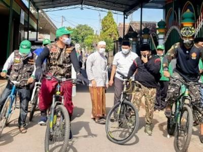 Dengan Bersepeda, NU Kota Pasuruan Sapa Pengurus Ranting
