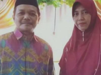 Keromantisan Pasangan Suami Istri di Pringsewu Pimpin Jamiyah NU