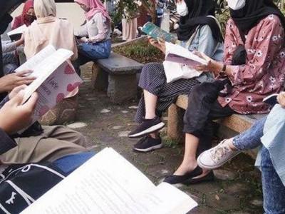 Tumbuhkan Minat Baca, Kader Muda NU Kota Banjar Ajak Anak Cinta Buku