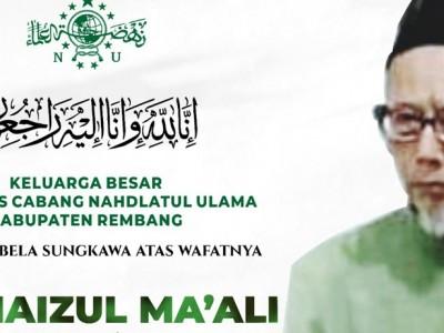 Innalillahi, Mustasyar NU Rembang KH Haizul Ma'ali Wafat