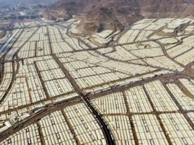 Jamaah Berkumpul di Mina pada Hari Pertama Haji 2020, 29 Juli