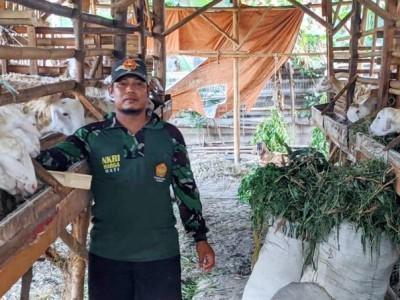 Khidmah di Banser, Wito Tak Lupa Kewajiban Hidupi Keluarga dengan Ternak Kambing