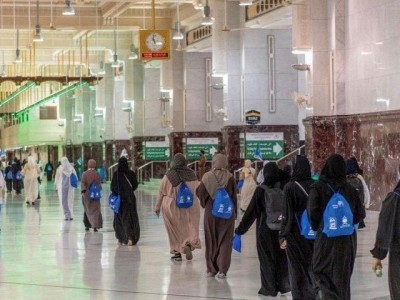 Pertama Kali, Polisi Wanita Bergabung dalam Pasukan Keamanan Haji