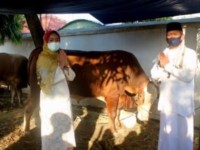 Bupati Brebes Serahkan Kurban Tiga Sapi dan Satu Kerbau
