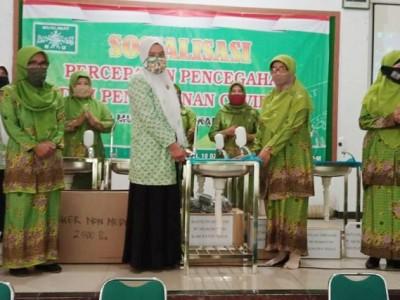 Dari Sedekah Sampah, Muslimat Fatayat NU Tegal Bantu Alat Cuci Tangan untuk Pesantren