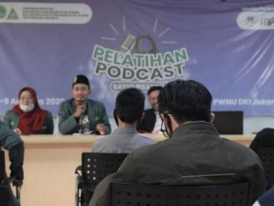 Ajak Kader Melek Teknologi, IPNU dan IPPNU DKI Gelar Pelatihan Podcast