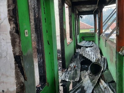 Salah Satu Asrama Pesantren Tempat Munas dan Konbes NU 2019 Terbakar