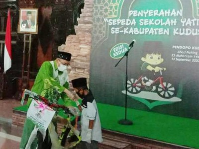 Musim Gowes, 136 Yatim Terima Sepeda dari LAZISNU Kudus