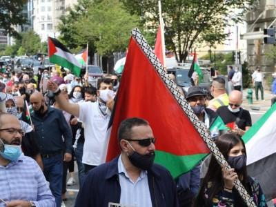 Massa Pro-Palestina Gelar Demonstrasi di Depan Gedung Putih, Tolak 'Normalisasi'