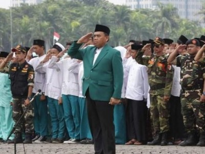 Saat Almarhum H Saefullah Jadi Komandan Upacara Puncak Hari Santri 2016