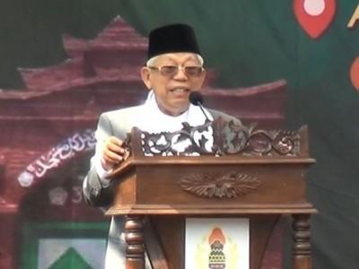 KH Ma'ruf Amin Sebut 3 Tantangan Besar NU