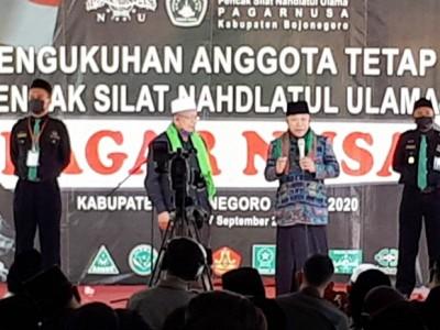 Dikukuhkan, Santri Pagar Nusa Bojonegoro Siap Kawal Kiai NU dan NKRI