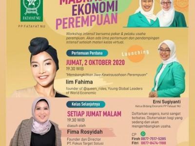 PP Fatayat NU Luncurkan Madrasah Ekonomi Perempuan